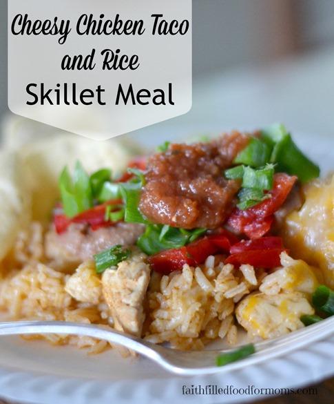 cheesy Chicken Taco and Rice
