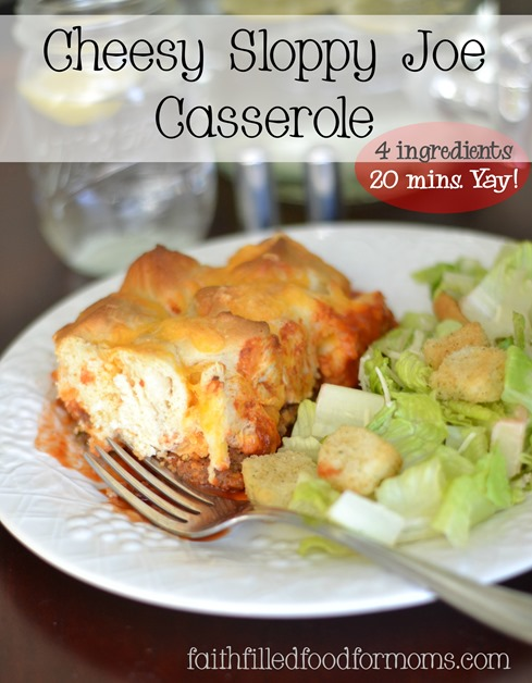 cheesy sloppy joe casserole 4