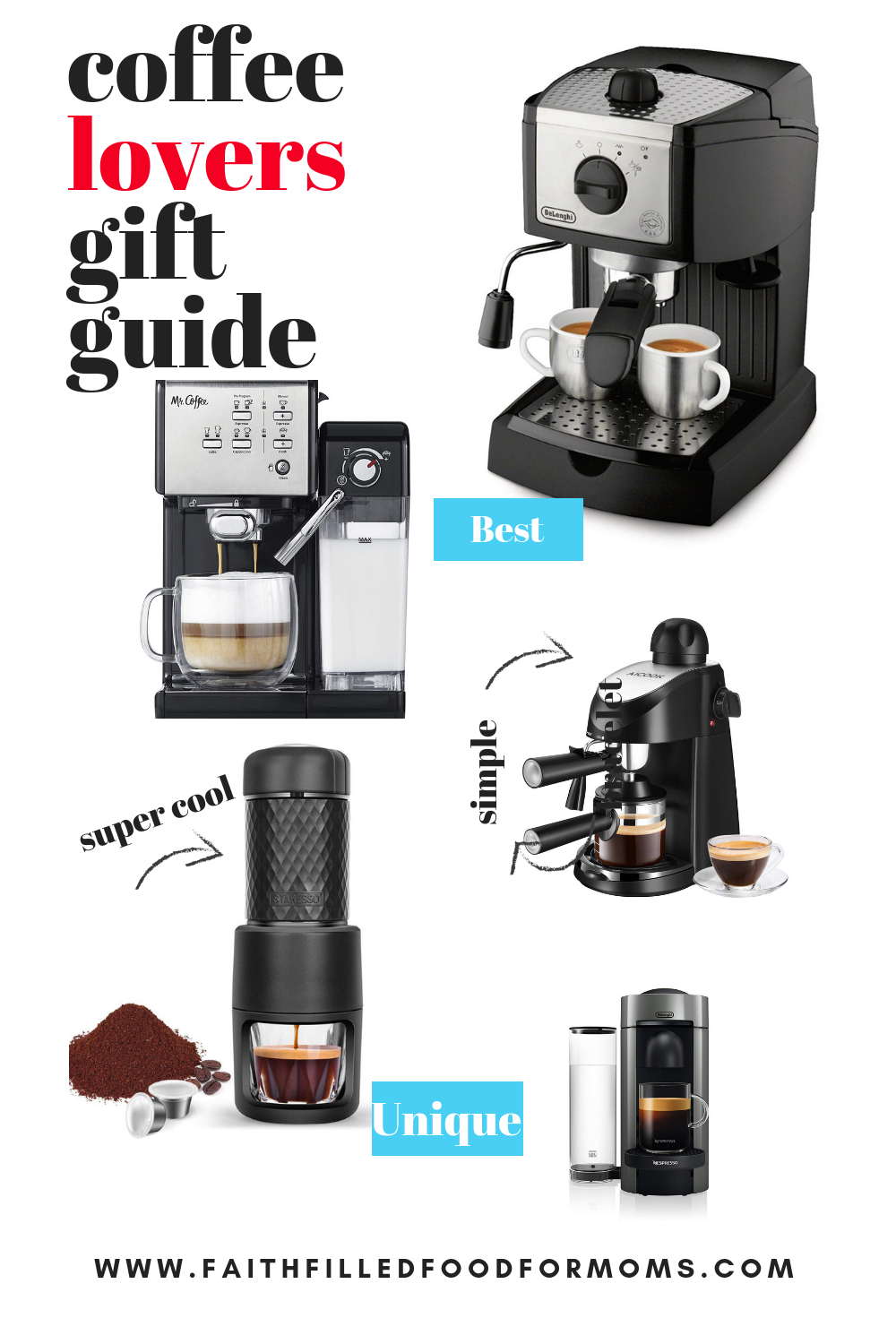 gift guide for coffee espresso lovers