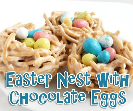 Easter Nest with Chocolate Eggs