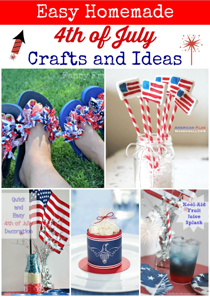 easy homemade 4th of july crafts and ideas. Black Bedroom Furniture Sets. Home Design Ideas