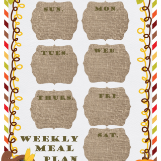 Free Printable Meal Planner for Fall
