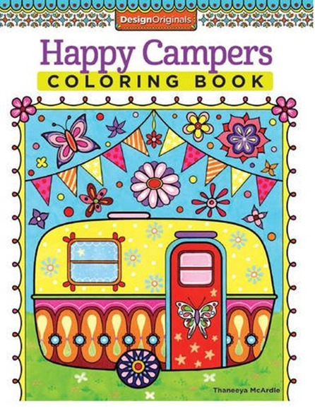 happy camper coloring book