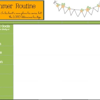 Healthy Summer Routine with Printable and Giveaway!
