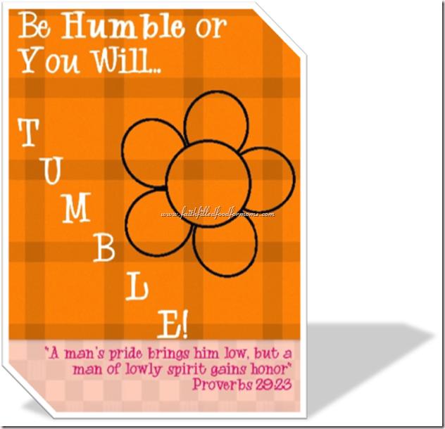 Humble Proverbs 29:23