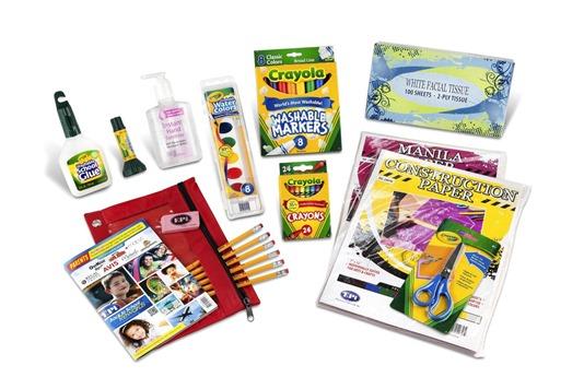 kindergaren School Supplies