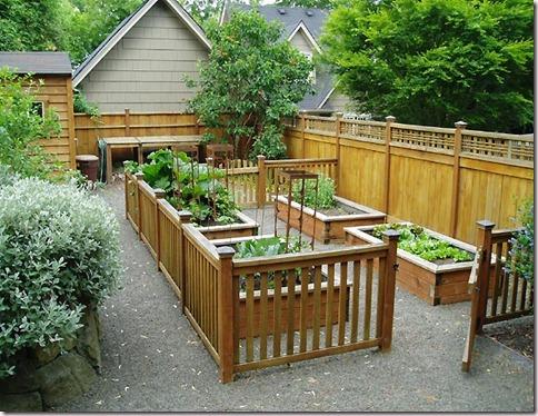 raised bed gardening on patio