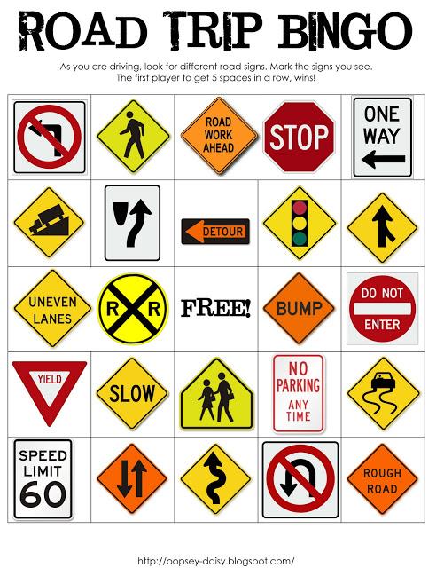 car travel games for kids road trip bingo