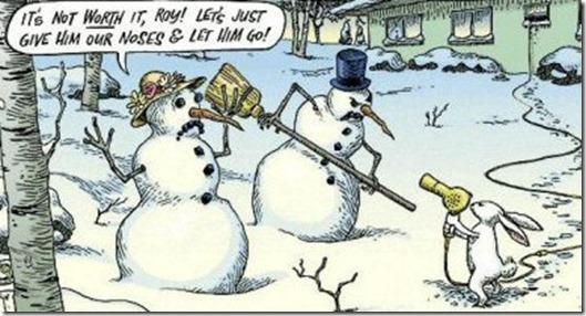 snowman bunny holdup
