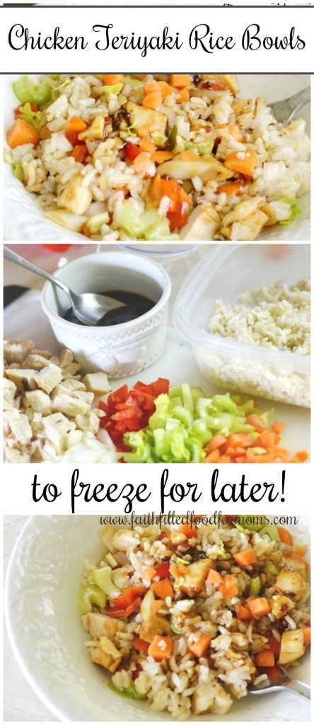 teriyaki chicken rice bowls to freeze for later